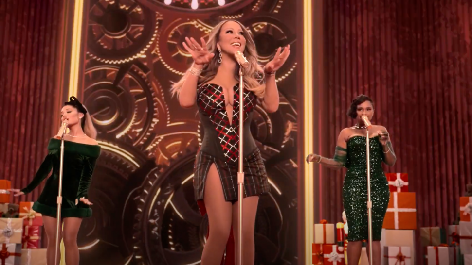 "Mariah Carey brings the festive cheer, releasing an iconic cover of her original song ""Oh Santa!"" together with Ariana Grande and Jennifer Hudson"